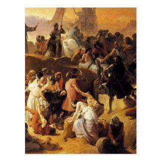 フランチェスコ著エルサレムの近くのThirstingクルセーダー ポストカード
