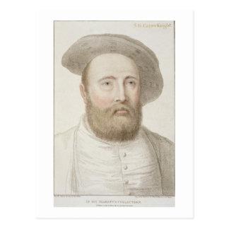 フランチェスコ著刻まれるジョージCarew (b.c.1514) ポストカード