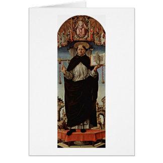 フランチェスコDel Cossa著St.ヴィンチェンツォFerrer カード