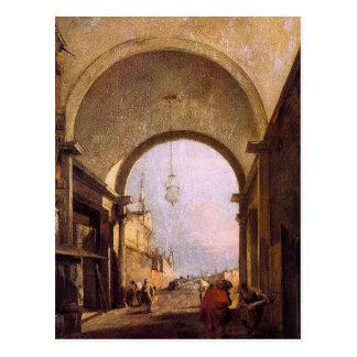 フランチェスコGuardi著都市眺め ポストカード