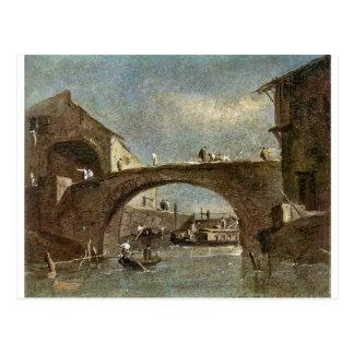 フランチェスコGuardi著Doloの橋 ポストカード