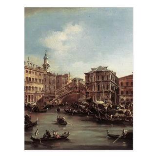 フランチェスコGuardi- Rialto橋 ポストカード