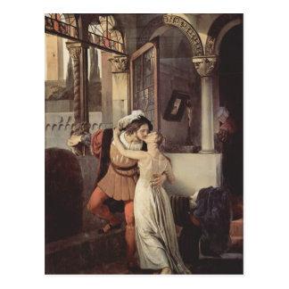 フランチェスコHayez-ロミオおよびJulietの最後のキス ポストカード