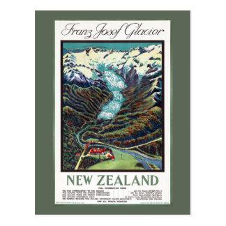 フランツヨセフの氷河ヴィンテージ旅行ポスター ポストカード