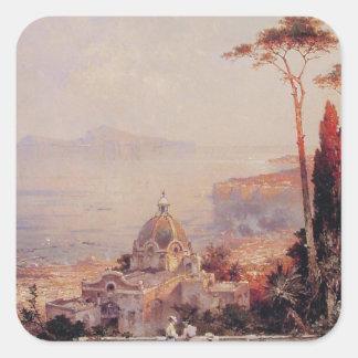 フランツリチャード著バルコニーからの眺め スクエアシール