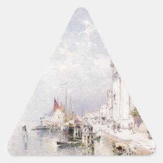 フランツリチャード著Zatteriベニスの眺め 三角形シール