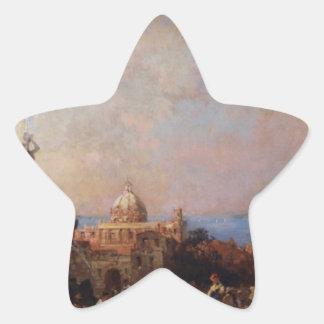 フランツリチャードUnterberger著ナポリの市場 星シール