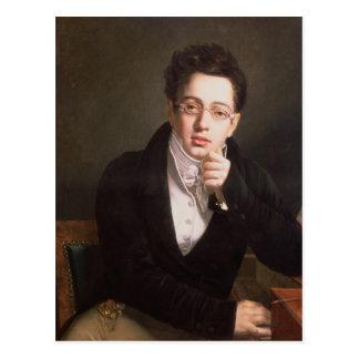 フランツ・シューベルト、オーストリア作曲家のポートレート ポストカード