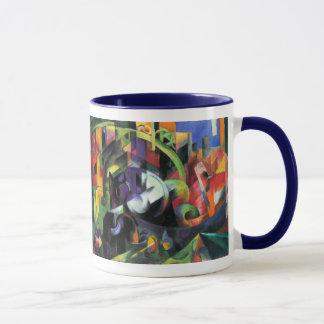 フランツ・マルクのヴィンテージによる牛はファインアートを抽出します マグカップ
