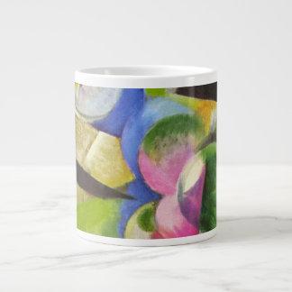 フランツ・マルクのヴィンテージのファインアート著木が付いている家 ジャンボコーヒーマグカップ