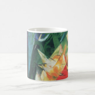 フランツ・マルクのヴィンテージの立体派の芸術著鳥(Vogel) コーヒーマグカップ