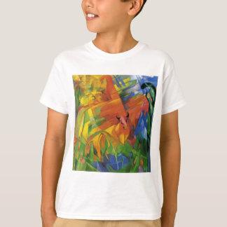 フランツ・マルク著景色の動物 Tシャツ