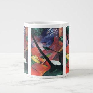 フランツ・マルク著森林IIのシカ; Reh im Walde ジャンボコーヒーマグカップ