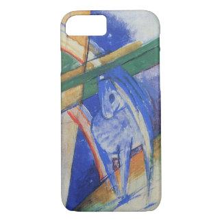 フランツ・マルク著虹を持つ青い馬 iPhone 8/7ケース