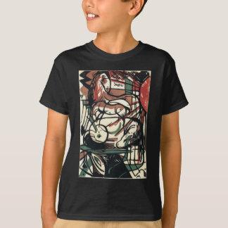 フランツ・マルク著馬の誕生 Tシャツ