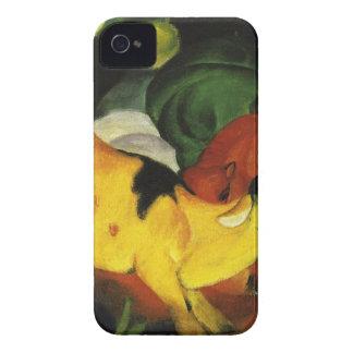 フランツ・マルク著黄色赤緑の牛 Case-Mate iPhone 4 ケース