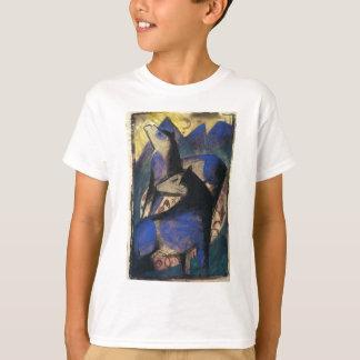 フランツ・マルク著2頭の青い馬 Tシャツ