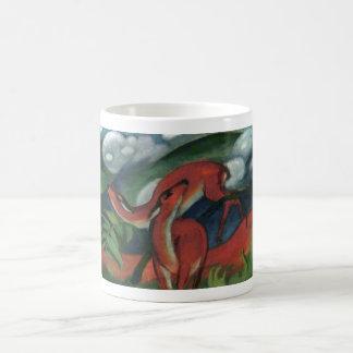 フランツ・マルク-アカシカII 1912年の森林動物の子鹿 コーヒーマグカップ