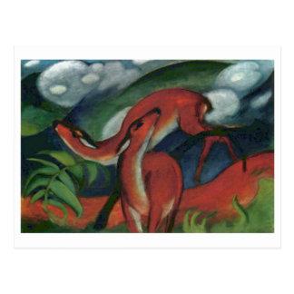 フランツ・マルク-アカシカII 1912年の森林動物の子鹿 ポストカード