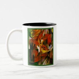 フランツ・マルク-キツネ-表現主義者の芸術 ツートーンマグカップ