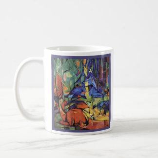フランツ・マルク-森林の卵の雌ジカ-表現主義者 コーヒーマグカップ