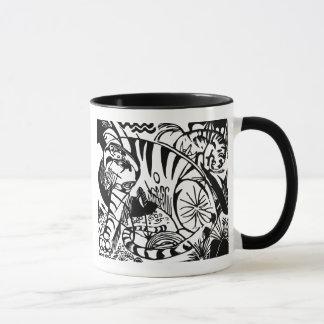 フランツ・マルク-白黒トラ-抽象美術 マグカップ