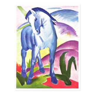 フランツ・マルク-青い馬I 1911年のウマ科のな騎手 ポストカード