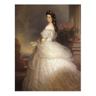 フランツWinterhalter-エリザベスのオーストリアの皇后 ポストカード