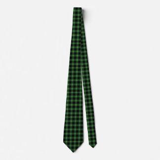 フランネルの緑のバッファローの格子縞パターン秋の秋 タイ