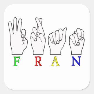フラン   綴られる一流ASL指 スクエアシール