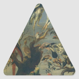 フランSnydersによる鳥のコンサート 三角形シール