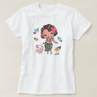 フラLuluの踊りのTシャツ Tシャツ