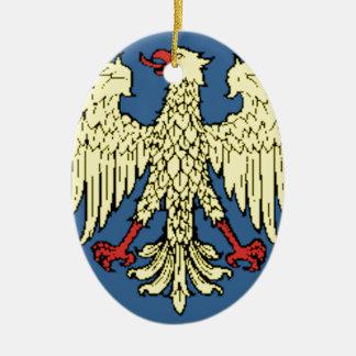 フリウリ=ヴェネツィア・ジュリア州(イタリア)旗 セラミックオーナメント
