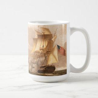 フリゲート艦を航海する海は戦いのマグを出荷します コーヒーマグカップ