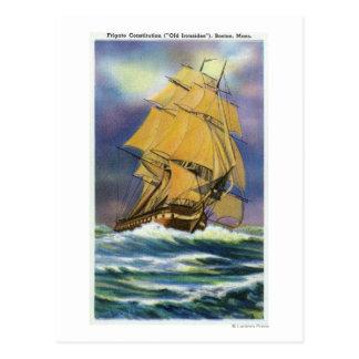フリゲート艦憲法、古いIronsidesの眺め はがき