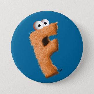 フリップボタン(青い)! 7.6CM 丸型バッジ
