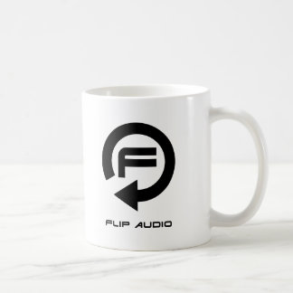 フリップ可聴周波マグ-黒いロゴ コーヒーマグカップ