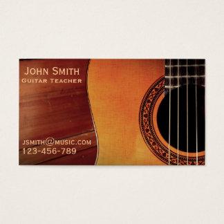 フリーギターの先生音楽個人教師 名刺