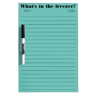 フリーザー項目 ホワイトボード