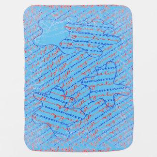 フリースのベビーブランケットのアルファベットのデザイン ベビー ブランケット