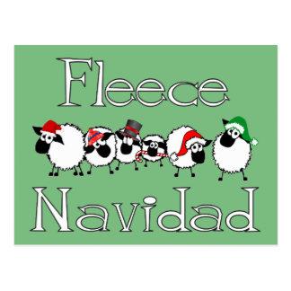 フリースのNavidadのおもしろいなクリスマスの郵便はがき ポストカード