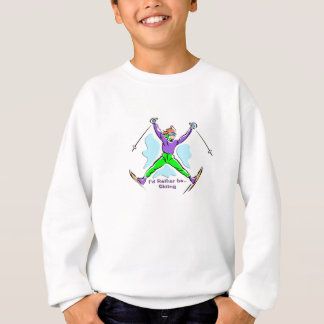 フリースタイルのスキーヤー スウェットシャツ