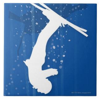 フリースタイルのスキーヤー タイル