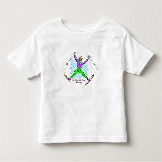 フリースタイルのスキーヤー トドラーTシャツ