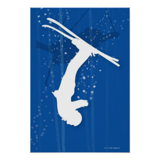 フリースタイルのスキーヤー ポスター