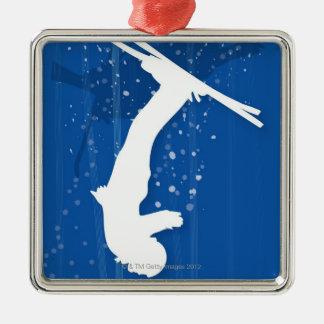 フリースタイルのスキーヤー メタルオーナメント