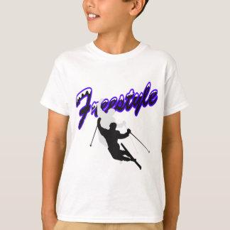フリースタイルのスキー Tシャツ