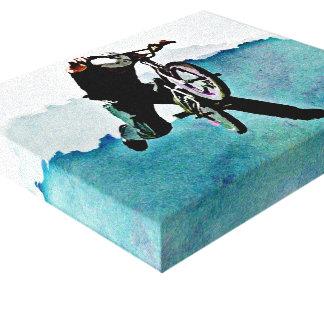 フリースタイルBMXの自転車の発育阻害 キャンバスプリント
