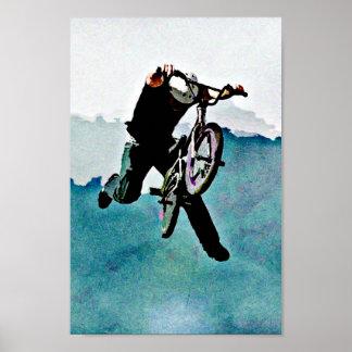 フリースタイルBMXの自転車の発育阻害 ポスター