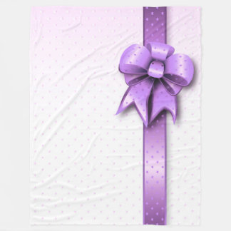 フリースブランケットの薄紫の現在の弓 フリースブランケット